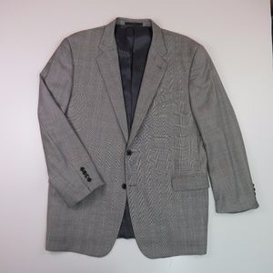 Joseph Abboud Men's 46L 100% Wool Blazer Gray